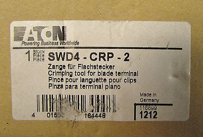 Eaton Cutler Hammer Swd4 Crp 2 Blade Terminal Ribbon Cable Wire Dt Tool Crimper