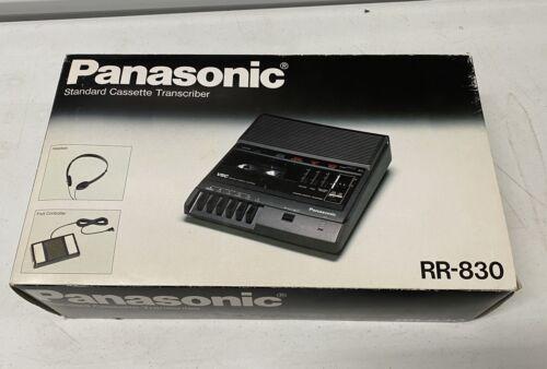 PANASONIC RR-830 STANDARD CASSETTE TRANSCRIBER RECORDER/PLAYER IN BOX - $139.00