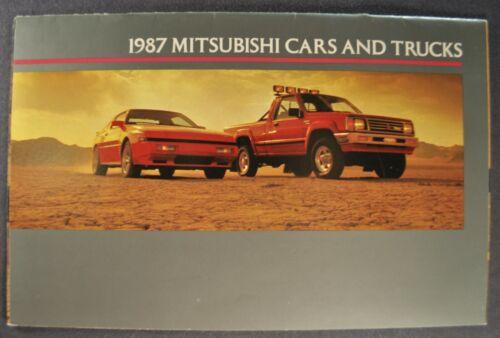 1987 Mitsubishi Brochure Starion Galant Cordia Mirage Precis Montero Pickup Van