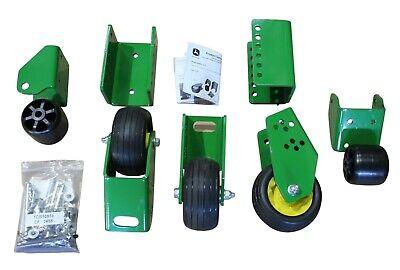 Oem John Deere 72 V-flex 7-iron Mower Deck Rear Rubber Caster Anti-scalp Wheels
