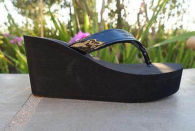 NEW Women's T-Strap Wedge Sandals Platform Flip Flops Over stock sizes --1098  Strap Wedge Flip Flops
