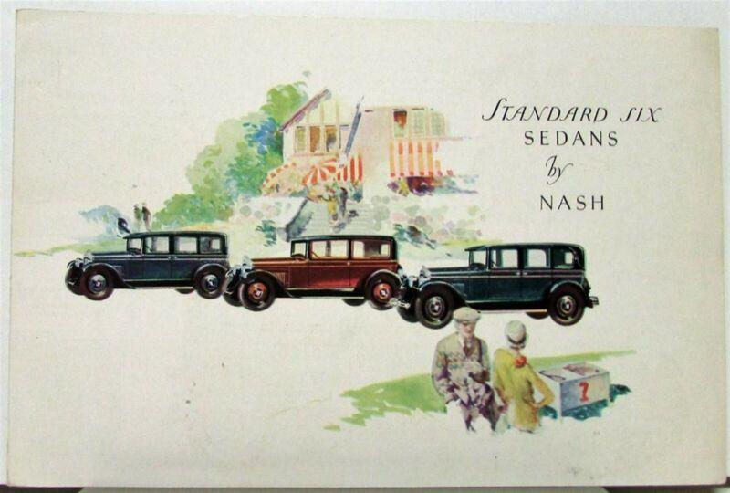 1927 Nash Standard Six Sedan Original Color Sales Folder