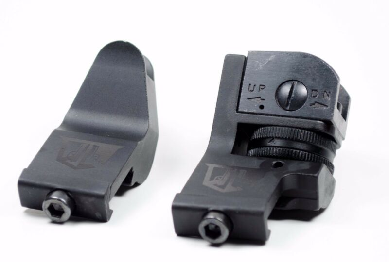 45 Degree Offset Backup Iron Sights By Ozark Armament for AR Style Rifles Picatinny Mount