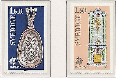 Europa CEPT 1976 Ambachten Zweden 943-944 - Postfris  MNH