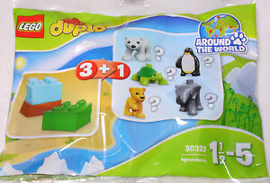 LEGO Duplo Tierbaby 30322 Polybag Tüte, 3 Steine + 1 Tier = kleiner Elefant NEU
