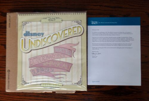 Disney Undiscovered 2010-2011 23 Month Calendar with Images D23 NIB