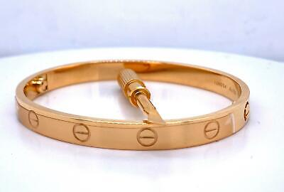 NEW Genuine Cartier Love Bracelet 18k Yellow Gold Size 17 Ref B6035517 New Style
