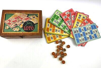 Retro Vintage French Lotto Bingo Game Original Box Collectors Toys Games