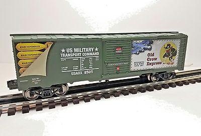 Menards ~ O GAUGE  US ARMY  NOSE ART boxcar OLD CROW EXPRESS MTH Lionel compatib