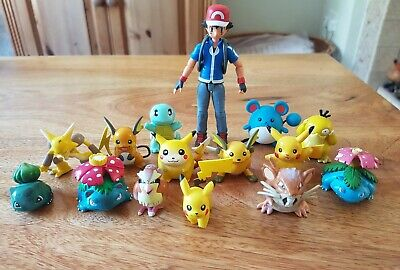 Tomy Pokemon Vintage Figures Ash Pikachu Bundle