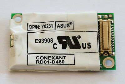 56k Modem Karte Laptop intern Conexant RD01-D480 Y0231 ASUS 0Y0231 mit Kabel Laptop Modem 56k