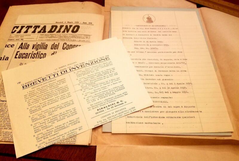 Vintage Italy Machine Mussolini Harry Williams Pearl St Tilton Hartford Ct 1938