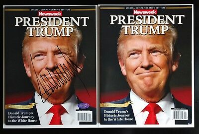 Newsweek President Donald Trump Commemorative magazine and Signed Autograph Copy