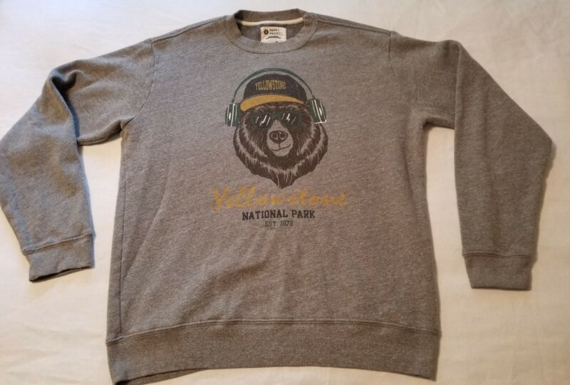 Parks Project Yellowstone National Park Sweatshirt Made In USA Size Large