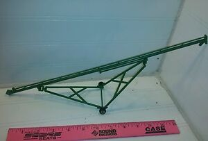 1/64 ertl farm toy 80' standi toys green grain auger plastic, with rubber tires