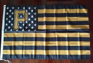 Pittsburgh Pirates 3x5 American Flag. US seller. Free shipping within the US