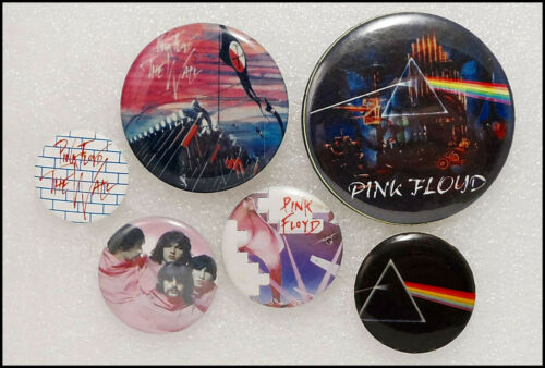 Pink Floyd Lot Of 6 Buttons Pins Badges The Wall Dark Side Of The Moon