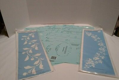 3- Simply Plaid Crafter Choice Stencils Letters American Traditional Stencils