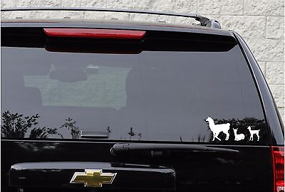 Alpaca/llama family decal set