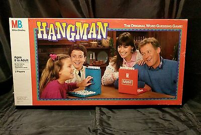 Hangman Word Guessing Family Game Milton Bradley 1988 Complete  M