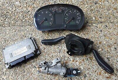 Volkswagen Polo 2007 1.2 Petrol Ignition Barrel Key Transponder ECU Kit Bundle