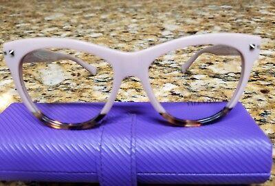 Valentino VA 3011 5006 pink yellow Havana wayfarer studded eyeglasses 53 eye