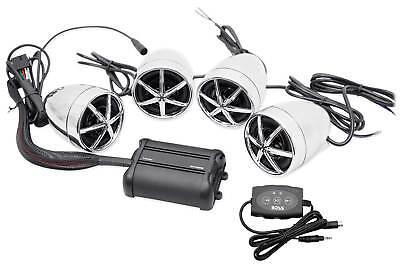 Boss MC650B 1200w Bluetooth 4) Speaker+Amplifier Handlebar System Motorcycle/ATV