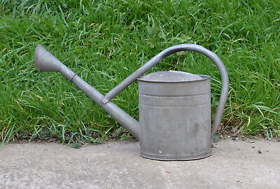 old vintage BAT watering can / metal can with rose / 7.5 L  - FREE DELIVERY