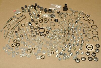 Vtg Bike Shop Lot Bicycle Bushings Lock Nuts Parts Bearings Screws Washers Lot