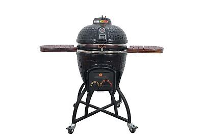 Kamado Style Charcoal Grill - LP Gas Capable or Charcoal Accessory Kit included ()