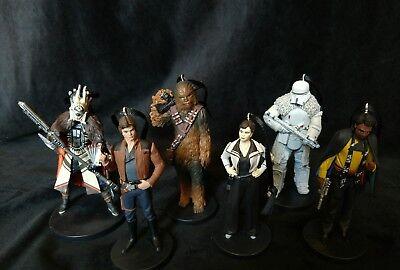New Star Wars Han Solo Christmas Ornament set of six- Han Chewbacca Lando
