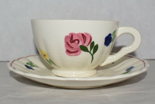 """Blue Ridge """"Snippet"""" Cup and Saucer Set"""