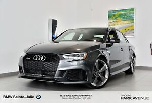 2018 Audi RS 3 Sedan 2.5T*GPS*Ensemble tech*Black Optics*