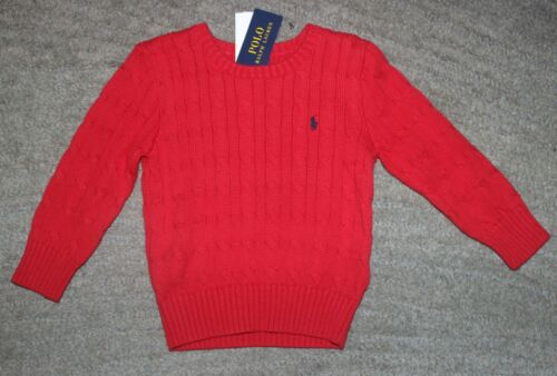 Polo Ralph Lauren Toddler Boys Red Cotton Sweater - Size 2T - NWT