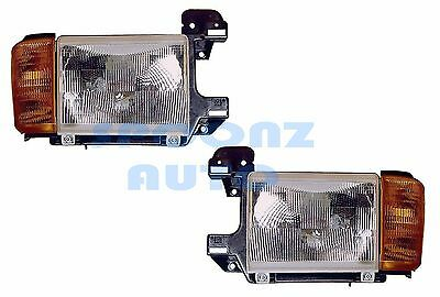 FLEETWOOD DISCOVERY 1996 1997 1998 HEADLIGHT HEAD LAMPS W/O CHROM RV - PAIR