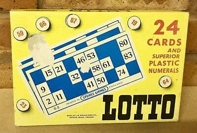 VINTAGE LOTTO GAME SPEARS GAMES COMPLETE VGC *****FREE P&P*****
