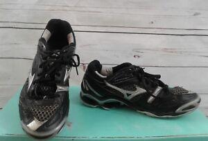 Mizuno Womens shoes 8 Wave Tornado 6 Black Silver gray Kura liner