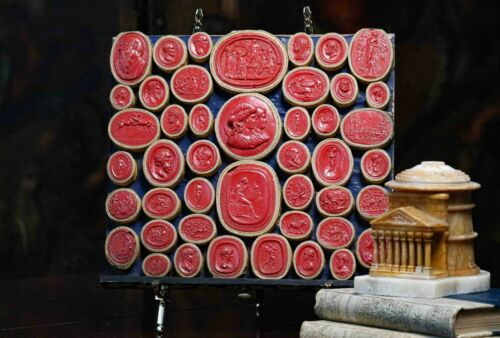 Grand Tour Collection of Red Neoclassical Plaster Intaglios Circa 1780