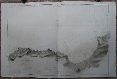 Antique Print-SEA CHART-TANGIER-MOROCCO-GIBRALTAR STRAIT-Depot de la Marine-1857