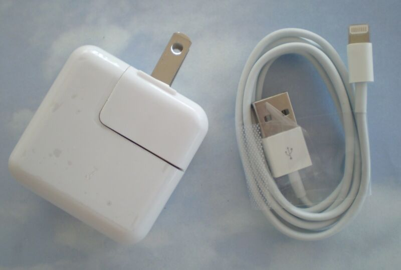 ONE SET - 12W USB 2.4 Amp Wall Charger + 8 Pin Cable for iPad Air