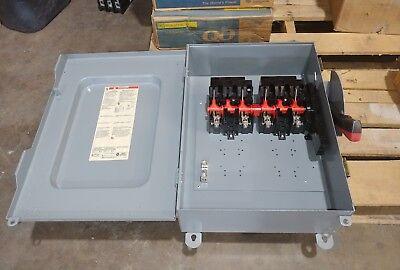 Nib Square D Hu461 30 Amp 600 Volt Non Fused 4 Pole Disconnect Switch