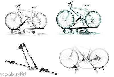 Car roof mounted cycle carriers racks for transporting bikes cycles on car roof
