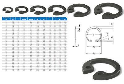 Sicherungsring Seegerring DIN 472 für Bohrungen von 8 - 52 mm Federstahl blank