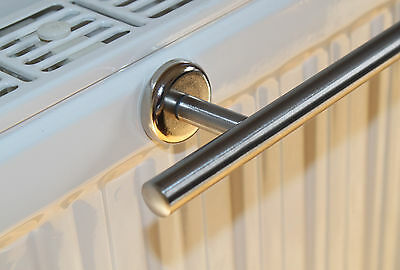 Edelstahl Handtuchhalter 44 cm Magnet Befestigung für Heizkörper Handtuchstange