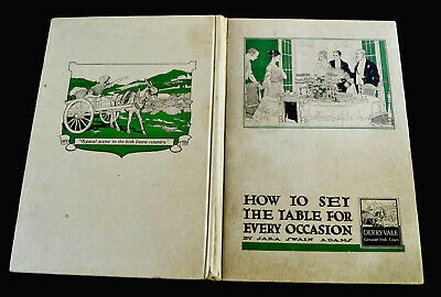 'HOW TO SET THE TABLE FOR EVERY OCCASION' BY S.S.ADAMS, 1ST ED., HB, ILL, LINENS