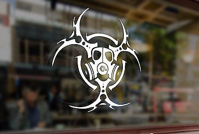 25cm Mask BIOHAZARD Respirator Gas Vinyl Stickers Decal Car Auto Glass - Biohazard Respirator Mask