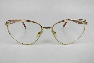 Logo Paris 947 Eyeglasses Frame 55[]18 130mm Women's Rx Oval Gold Metal Eyewear