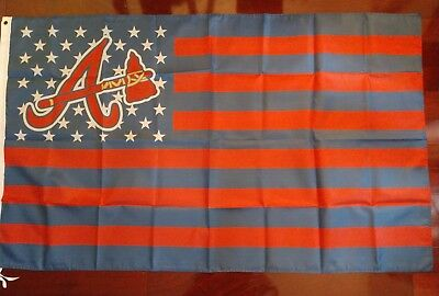 Atlanta Braves 3x5 American Flag. US seller. Free shipping within the - Braves Atlanta