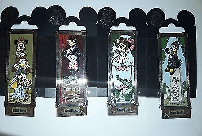DISNEY Pin Set 70024-27 DLR - Haunted Mansion Stretching Room Portrait Fab Five