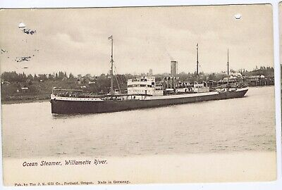 Ocean steamer Willamette River Oregon UDB printed photo ship boat Portland